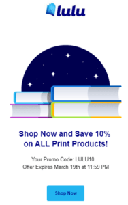 10% off Book Sale, till March 19th 2020