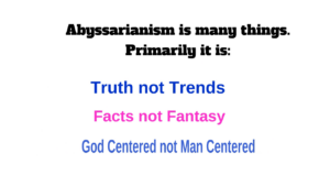 New Abyssarianism Course and First Quiz is up!